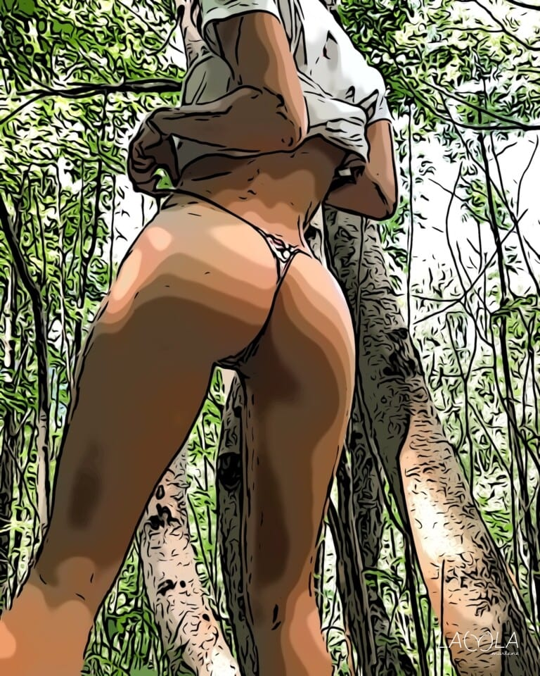 Striptease nel bosco